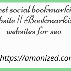 Bookmarking websites for SEO